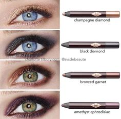 Charlotte Tilbury eyeshadow pencil swatches #makeup #beauty
