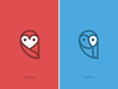 Two variations of the Wisely logo for their new apps. // By Sean Farrell, Brand Clay Logos, Logo Branding, Buho Logo, Icon Design, Logo Design, Wood Badge, Owl Logo, Animal Totems, Kids Logo