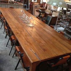 16 Seater Recycled Timber Dining Table, 16 seater, $8K, 4.58M long