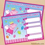FREE Printable Princess Fairy Peppa Pig Birthday Invitation