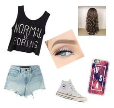 """Classic♡"" by tiaaarnaxo ❤ liked on Polyvore featuring T By Alexander Wang, Converse and Casetify"