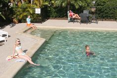 Look how beautiful and clear our pool water is here at BIG4 Noosa!