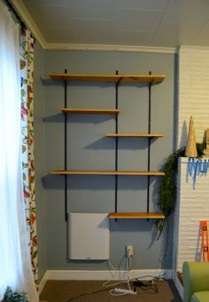 Revamp Homegoods: DIY // Budget-Friendly Industrial Wall Shelving Unit