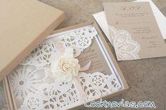 invitaciones-de-boda-con-tela- ...