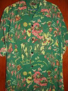 Vintage 1940s Paradise Sportswear Hawaiian Shirt