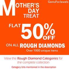 FLAT 50% SALE  Rough Diamonds Raw Diamonds Rose by gemsforjewels