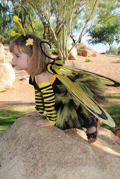 Layered BEEutiful Bee Tutu Costume Toddler Size by jujustutus, Tutu Costumes, Halloween Costumes, Costume Ideas, Toddler Bee Costume, Fall Halloween, Happy Halloween, Bee Makeup, No Sew Tutu, Creative Costumes