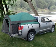 Truck Tent! If you hadn't thought of your truck bed as a place to sleep, you can now. Set up this lightweight, weather-resistant, truck tent in your pickup bed within minutes, and you'll have a comfortable camp for the night.