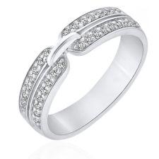 Alliances Mariage Alliance diamant or blanc Evin