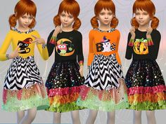 Sims 4 CC's - The Best: Girls Halloween Outfit by Fritzie.Lein