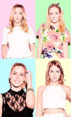 Emily Bett Rickards, Katie Cassidy, Caity Lotz and Willa Holland