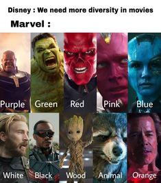 Funny Marvel Memes, Funny Disney Memes, Marvel Jokes, Dc Memes, Avengers Memes, Crazy Funny Memes, Really Funny Memes, Funny Relatable Memes, Marvel Avengers
