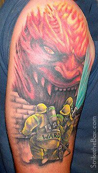 Looking at tattoo idea and coming across an actual picture of my dad's tattoo... Yeah, thats pretty cool (: