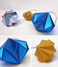 origami - Adornos de Navidad