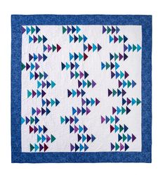 This Half Square Triangle Quilts is genuinely an interesting design procedure. Charm Square Quilt, Charm Quilt, Half Square Triangle Quilts, Missouri Quilt Tutorials, Quilting Tutorials, Quilting Projects, Msqc Tutorials, Colorful Quilts, Blue Quilts