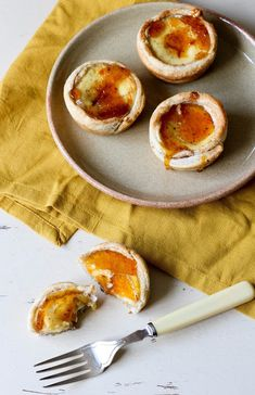 Quick Orange Caramel and Cinnamon Portuguese Tarts