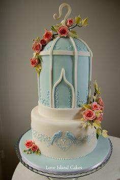 Birdcage Wedding Cake - Love Island Cakes Birdcage Wedding Cake, Wedding Cakes, Beautiful Cakes, Amazing Cakes, Bird Cage Cake, Cupcake Cakes, Cupcakes, Anniversary Cakes, Chocolate Sponge