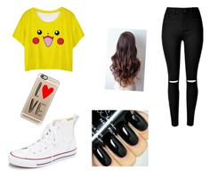 """""""#idk"""" by tira-bianca on Polyvore featuring Converse, Casetify, women's clothing, women, female, woman, misses and juniors"""