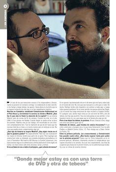 Entrevista a Nacho Vigalondo, página 3. Tema de portada del suplemento de El País On Madrid.