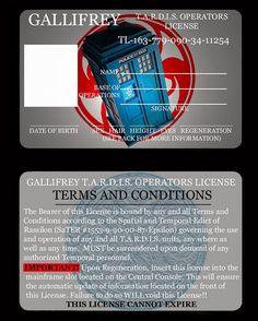Tardis Operator's License - doctor-who Fan Art