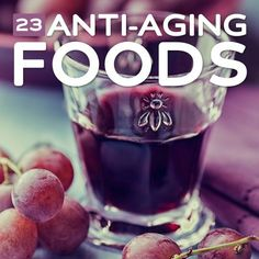 23 Anti-Aging Foods- to turn back the clock and feel younger. #Skincare [ Frownies.com ]