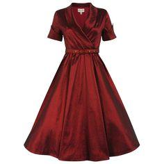 Vanda Copper Party Dress   Vintage Inspired Fashion   Lindy Bop