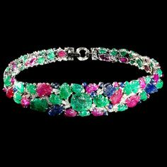 The Mountbatten Bandeau by Cartier, 1928. Rubies, sapphires, emeralds, diamonds and platinum.