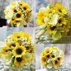 Sunflower Wedding Bouquet Online | Fake Sunflower Wedding Bouquet ...