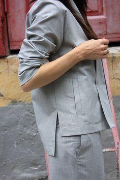 Купить Пиджак In Style - серый, пиджак, женский пиджак, летний пиджак, пиджак из шерсти