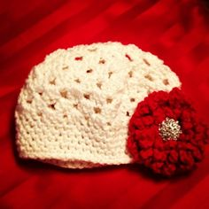 Glamour hat for baby girl
