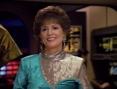 Lwaxana Troi ST TNG played by Majel Barrett Rodenberry