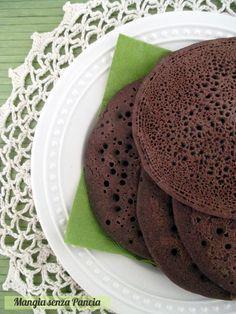 Pancakes al cacao vegan e senza glutine, Mangia senza Pancia