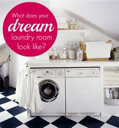 Pin your perfect laundry room & win a LG washer & dryer set! #LGatBBC