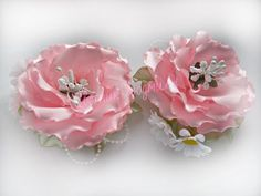 Ribbon flowers:quick dahlia/Flores de las cintas:dalia rápidamente/Цветы из лент:георгин быстро.МК - YouTube