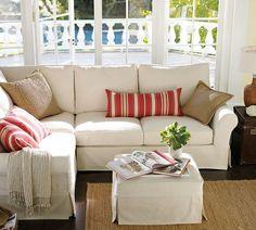 white elegant sofa covers for corner sofa with Pillow