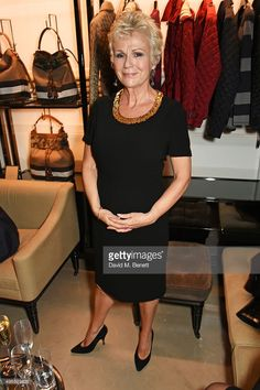 Julie Walters attends the BAFTA Breakthrough Brits reception in partnership with Burberry at 121 Regent Street, on November 2015 in London, England. Julie Walters, Dedicated Follower Of Fashion, Advanced Style, Office Fashion, Models, Short Hair Styles, Strapless Dress, Autumn Fashion, Glamour