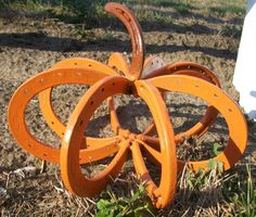Repurposed Horseshoe Pumpkin Great Indoors or Out by VictoryBarn, $35.00