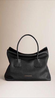Burberry Medium Leather Tote Bag Black Leather Purses 0e9de462929e8