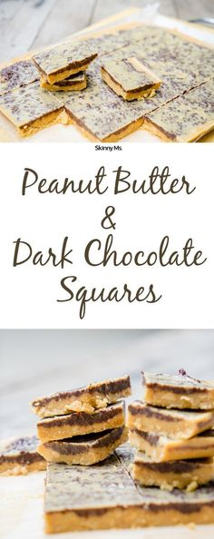 These Peanut Butter and Dark Chocolate Squares are so easy to make, and there's no refined sweeteners so they're clean!
