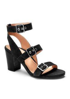36991c4d35b3 Orthaheel Women s Carmel Three Strap Heel - Black - 6.5M Black Strap Heels