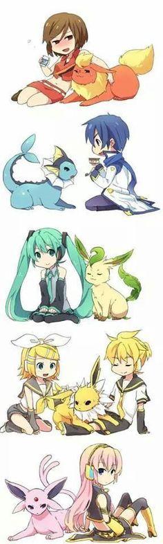 Vocaloids and their Pokemon