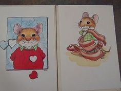 Wallace Tripp Retro Vintage Greeting Card Mouse Artwork Pawprints Made in the USA Current Kitschy Birthday Card Mail