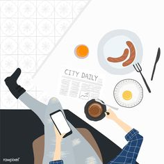 Illustration of people& daily life Illustration Inspiration, Flat Illustration, Free Illustrations, Character Illustration, Persona Vector, Fanarts Anime, Food Drawing, Cute Art, Free Design
