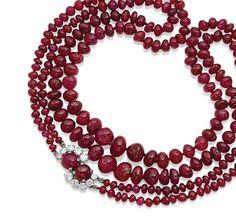 Collier rubis et diamants, par Suzanne Belperron