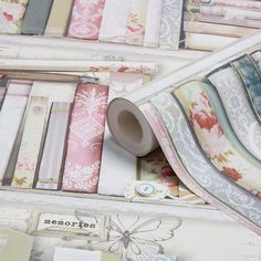 Graham & Brown Fresco Pink Collage Bookcase Wallpaper | Departments | DIY at B&Q