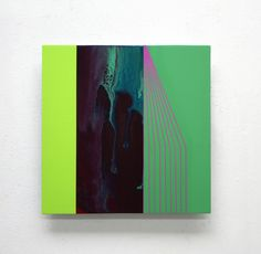 d13-3 | Painting by Ahn Hyun-Ju on sale on Artistics - 400 € #artistics #colorful #coloré #painting #peinture #green #vert #geometric #géométrique #art #contemporary #contemporain