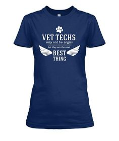 Vet Techs May Not Be Angels Crew Neck T-Shirt, V Neck Tee Shirt and Hoodie