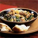 Sausage, Escarole, and White Bean Ragout Recipe | MyRecipes.com