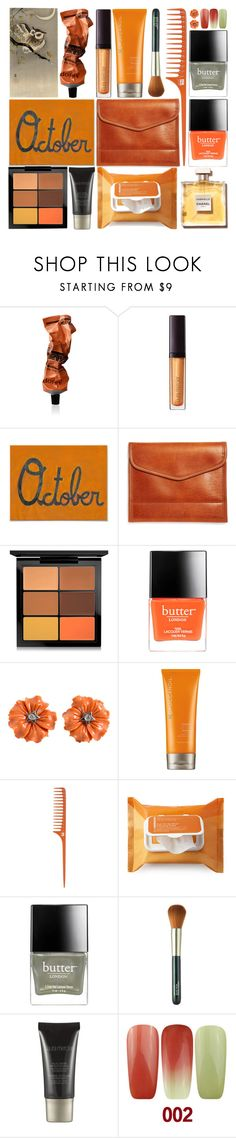 """Goodbye October"" by grozdana-v ❤ liked on Polyvore featuring beauty, Aesop, Laura Mercier, Brooks Brothers, MAC Cosmetics, Butter London, Moroccanoil, Origins and Chanel"