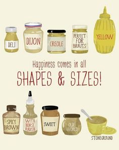 Mustard = one of life's best condiments.